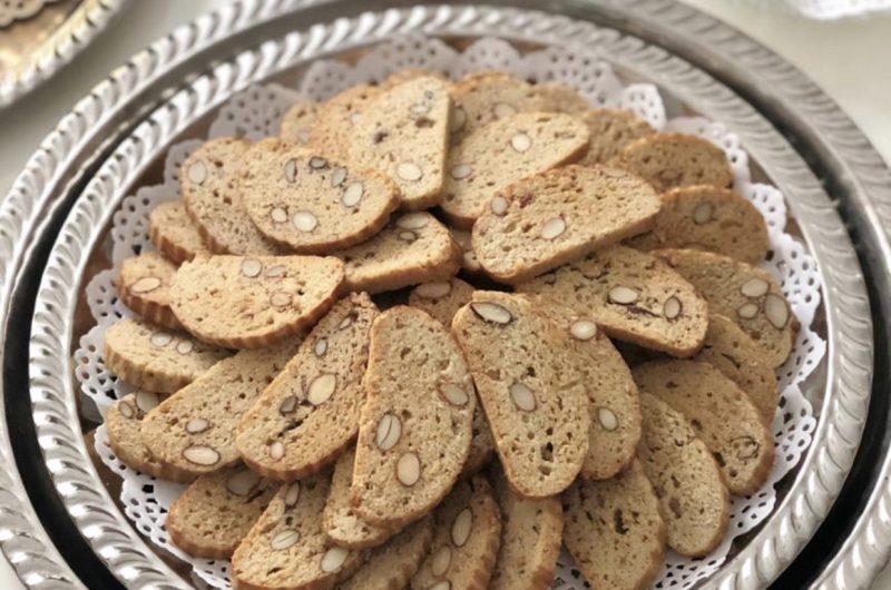 Fekkas koekjes, met amandelen.