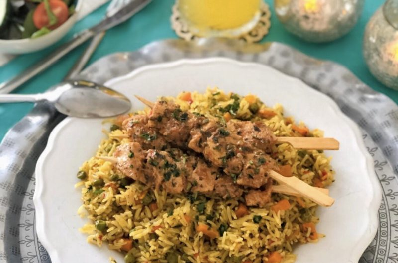 Marokkaanse rijst met kip en groenten